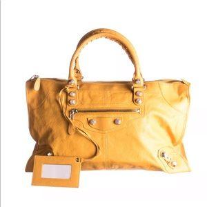 Authentic Balenciaga GSH work bag mustard yellow